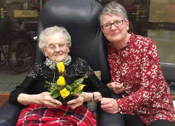 Prospect Private Nursing Home resident, Annie pictured with her daughter, Jennifer
