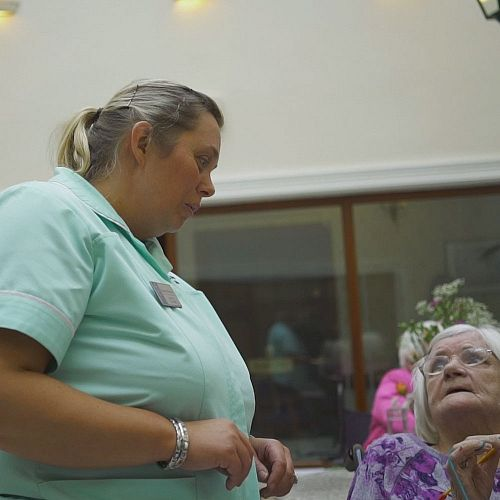 Prospect Private Nursing Home staff member and resident